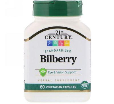 21st Century, Экстракт черники, 60 растительных капсул