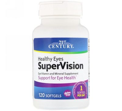 21st Century, Healthy Eyes (здоровые глаза) SuperVision, 120 желатиновых капсул