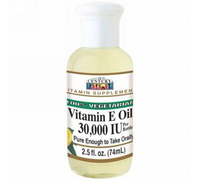 21st Century, Масло с витамином E, 30,000 МЕ, 2,5 жидких унций (74 мл)