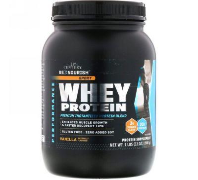 21st Century, Renourish, Sport, Whey Protein, Vanilla,32 oz (908 g)
