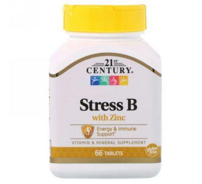 21st Century, Stress B, с цинком, 66 таблеток
