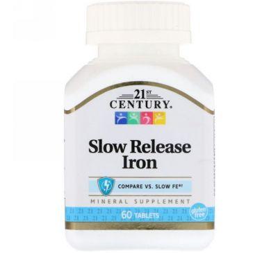 21st Century, Железо медленного высвобождения, 60 таблеток