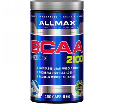 ALLMAX Nutrition, Аминокислоты с разветвлённой цепью 2100, 180 капсул