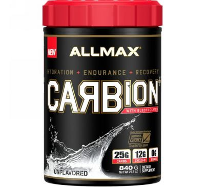 ALLMAX Nutrition, CARBion+ с электролитами, без ароматизаторов, 29,6 унц. (840 г)