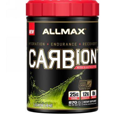 ALLMAX Nutrition, CARBion+ с электролитами, лимонный лайм, 30,7 унц. (870 г)