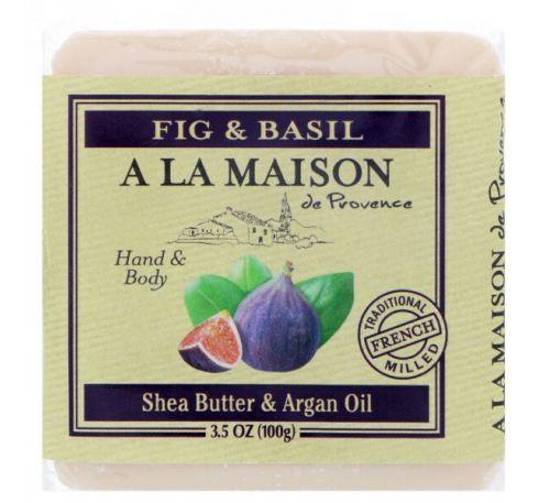 A La Maison de Provence, Кусковое мыло для рук и тела, Финики и базилик, 3,5 унц.(100 г)