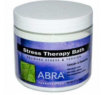 Abra Therapeutics, Средство для ванн терапия стресса, лаванда и ромашка, 482г