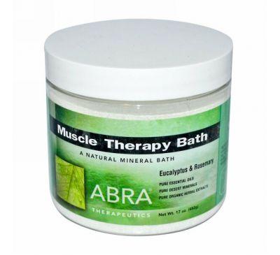 Abra Therapeutics, Ванная Терапия для Мышц, Эвкалипт и Розмарин 17 унции (482 г)