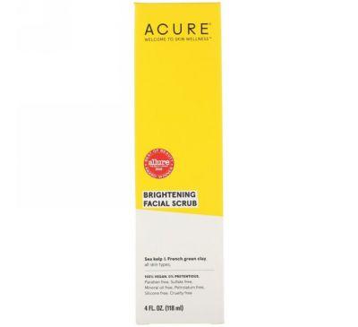 Acure, Brightening, скраб для лица, 4 ж. унц. (118 мл)