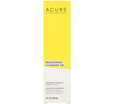 Acure, Brilliantly Brightening, очищающий гель, 4 ж. унц. (118 мл)