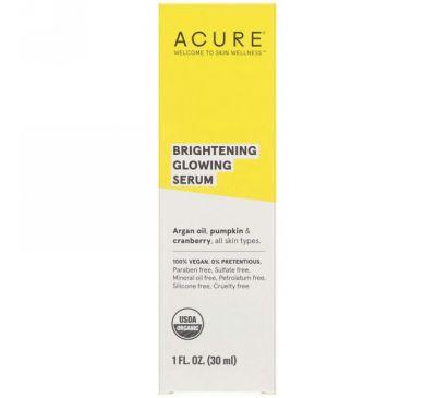Acure, Бриллиантовое осветление, сыворотка для сияния, 30 мл (1 жидкая унция)
