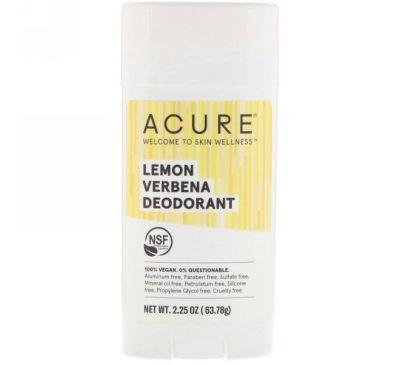 Acure, Дезодорант, лимон и вербена, 63,78 г