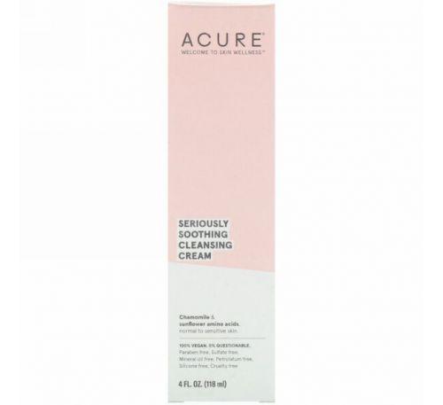 Acure, Глубокое успокоение, очищающий крем, 118 мл (4 ж. унц.)