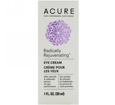 Acure, Крем для глаз, со стволовыми клетками хлореллы и эдельвейса, 1 жидкая унция (30 мл)