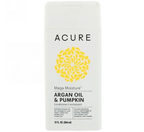 Acure, Mega Moisture кондиционер, аргановое масло и тыква, 12 ж. унц. (354 мл)