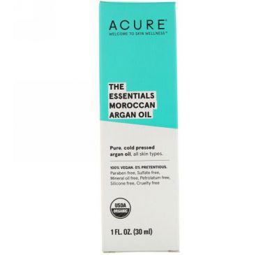 Acure, The Essentials Moroccan Argan Oil, 1 fl oz (30 ml)