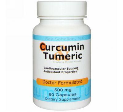 Advance Physician Formulas, Inc., Куркумин Тамерик, 500 мг, 60 капсул