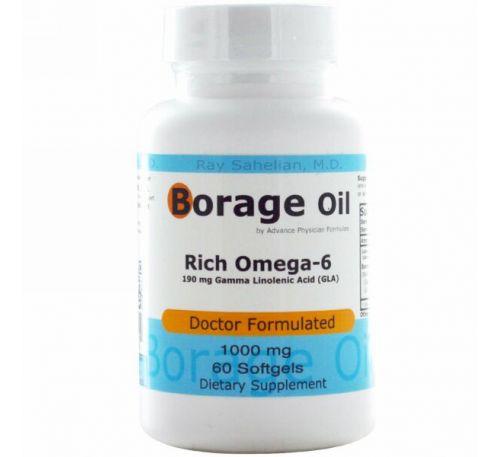Advance Physician Formulas, Inc., Масло бурачника, 1000 мг, 60 капсул