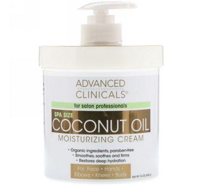 Advanced Clinicals, Увлажняющий крем с кокосовым маслом, 16 унций (454 г)