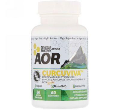 Advanced Orthomolecular Research AOR, CurcuViva, 80 mg, 60 Vegan Capsules