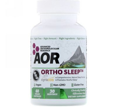 Advanced Orthomolecular Research AOR, Ortho Sleep, 60 Vegan Capsules