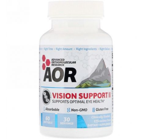 Advanced Orthomolecular Research AOR, Vision Support II, 60 капсул