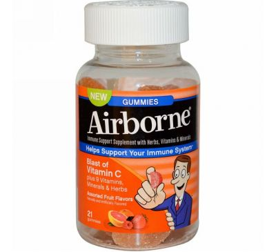 AirBorne, Gummies, Assorted Fruit Flavors, 21 Gummies