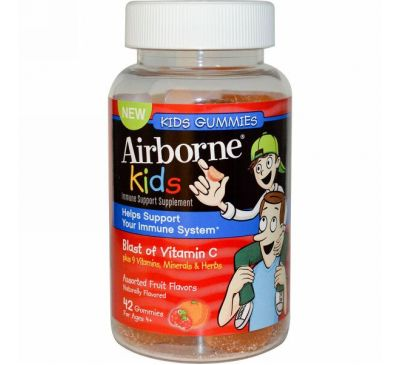 AirBorne, Kids Gummies, Assorted Fruit Flavors, 42 Gummies