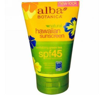 Alba Botanica, Гавайское солнцезащитное средство, SPF 45, 4 унции (113 г)