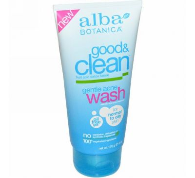 Alba Botanica, Good & Clean, мягкое средство от угрей, 6 унций (170 г)