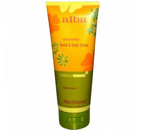 Alba Botanica, Лосьон для рук и тела, масло какао, 7 жидких унций (200 мл)