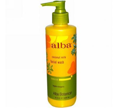 Alba Botanica, Средство для умывания с кокосовым молоком, 8 жидких унций (235 мл)