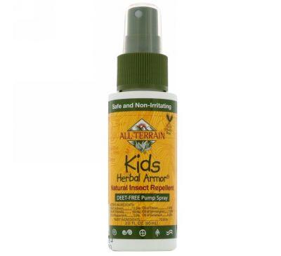 All Terrain, Kids Herbal Armor, Натуральный репеллент от насекомых, 2,0 ж. унц.(60 мл)