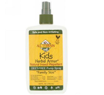 All Terrain, Травяная защита детей, натуральный репеллент от насекомых, 240 мл