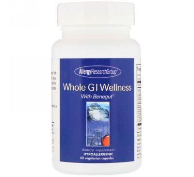 Allergy Research Group, Whole GI Wellness, для здоровой желудочно-кишечной функции, 60 вегетарианских капсул