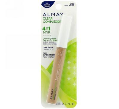Almay, Clear Complexion Concealer, 200, Light/Medium, 0.18 fl oz (5.3 ml)