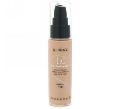 Almay, По-настоящему стойкий тональный крем, 160 натуральный, 1,0 ж. унц. (30 мл)