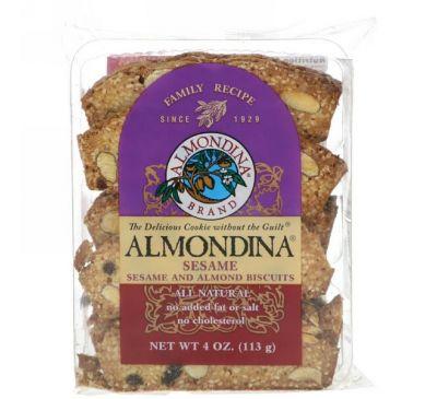 Almondina, Кунжут, кунжутное и миндальное печенье, 4 унции (113 г)