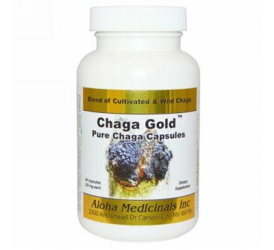 Aloha Medicinals Inc., Чага Gold, 90 капсул