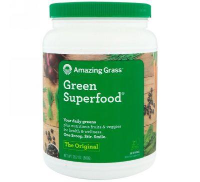 Amazing Grass, Зеленая чудо-пища, оригинал, 28,2 унц. (800 г)