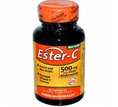 American Health, Эстер-C, 500 мг, 60 капсул