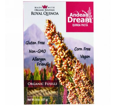 Andean Dream, Паста из киноа, фузилли, 227 г