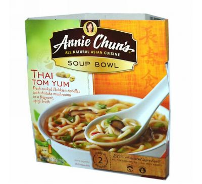 Annie Chun's, Тайский суп Том Юм, средний 6.0 унции (170 г)