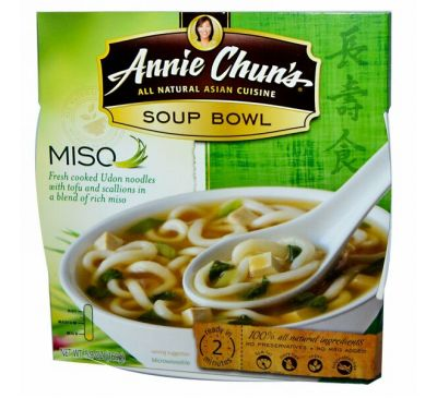 Annie Chun's, Тарелка супа, мисо, мягкий, 5,9 унции (169 г)