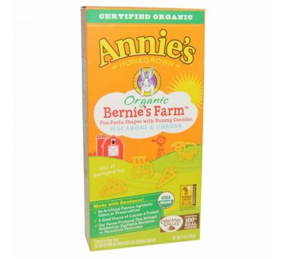 Annie's Homegrown, Organic, Bernie's Farm Macaroni & Cheese, 6 oz (170 g)