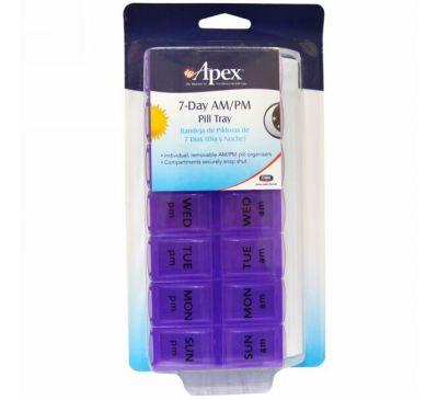 Apex, Органайзер для Таблеток на 7 Дней Утро / Вечер, 1 органайзер