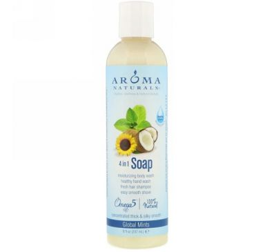 Aroma Naturals, 4-in-1 Soap, Global Mints, 8 fl oz (237 ml)
