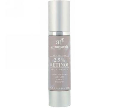 Artnaturals, Антивозрастное средство, Увлажняющее средство с 2,5% ретинолом, 1,7 унц. (50 мл)