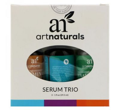 Artnaturals, Serum Trio Set, Anti-Aging, 3 Serums, 1 fl oz (29.5 ml) Each