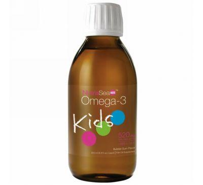 Ascenta, NutraSea для детей, омега-3, со вкусом жевательной резинки, 6,8 жидкой унции (200 мл)